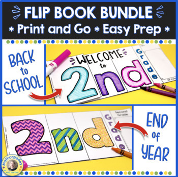 BTS - EOY Flip Book BUNDLE - 2nd Grade