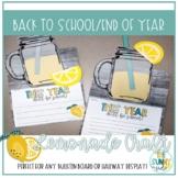 Back to School / End of Year Lemonade Bulletin Board Craft / Hallway Display