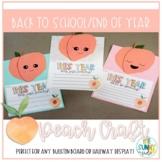 Back to School / End of Year Peach Bulletin Board Craft / Hallway Display