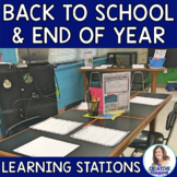 Back to School & End of the Year Learning Stations for Middle School