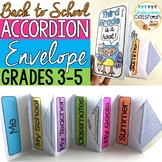 Back to School Envelope Accordion Book: Grades 3-5   First Week Activity