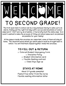 Back to School Envelope Cover Page