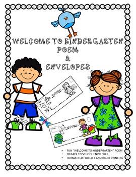 Back to School Envelopes and Poem