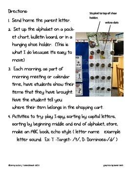 Back to School Environmental Print Classroom Shopping Cart