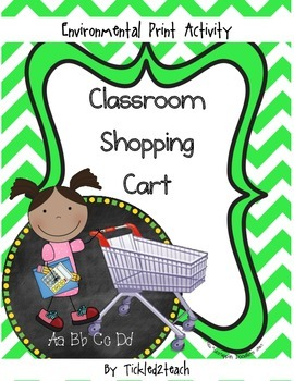 Back to School Environmental Print Classroom Shopping Cart