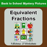 Back to School: Equivalent Fractions - Color-By-Number Mystery Pictures