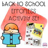 Back to School Errorless Activity Set