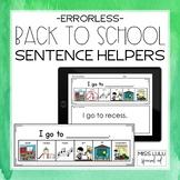 Back to School Errorless Writing Sentence Helpers
