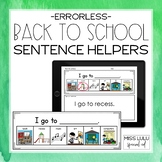 Back to School Errorless Writing Sentence Helpers