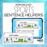 Sports Errorless Writing Sentence Helpers