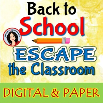 Escape Room Back to School Classroom Game Activity