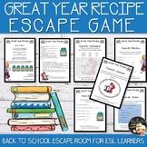 Back to School Escape Room EFL/ESL - Level 2