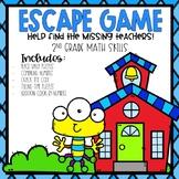 Back to School Escape Room 2nd grade Math Skills