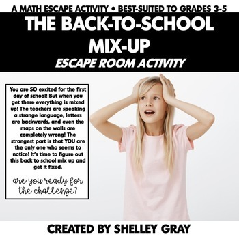 Back to School Escape Room Activity   The Back to School Mix-Up