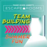 NO PREP Back to School Escape Room~Beginning of Year Activity~Summer Fun~