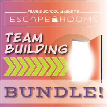 BUNDLE NO-PREP Team Building Escape Room-Team Building Activity, Class Community