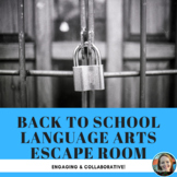 Back-to-School/Grammar Escape Room/Breakout Activity