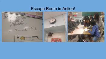 Back-to-School Language Arts Escape Room