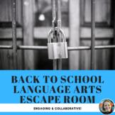 Back-to-School Language Arts Escape Room/Breakout Activity