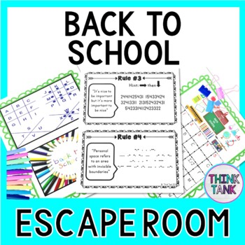 Back to School Escape Room - Classroom Rules
