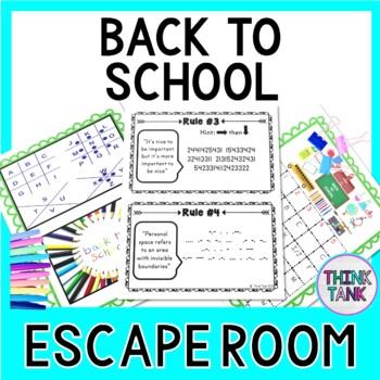 Back to School Escape Room - Classroom Rules Activity