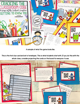 Back to School Escape Room Cracking the Classroom Code™ Lower Elementary
