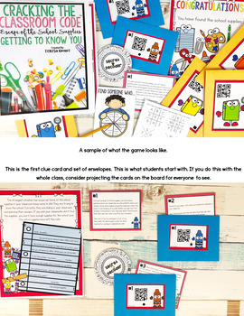 Back to School Escape Room Cracking the Classroom Code™ Upper Elementary