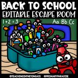 Back to School Escape Room (Editable Escape Room Activities)