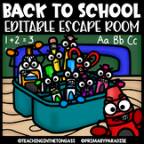Back to School Escape Room (Editable Escape Room Back to School Activities)