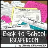 Back to School Escape Room (Editable for Any Subject Area)