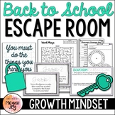 Back to School Escape Room - Growth Mindset & Teamwork