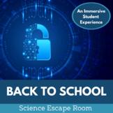 Back to School Escape Room - Middle School Science