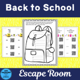 Back to School Escape Room Scavenger Hunt