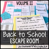 Back to School Escape Room Volume 2 (Editable for Any Subject Area)