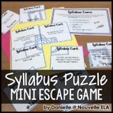 Syllabus Reconstruction Mini Escape Game (Editable for Any