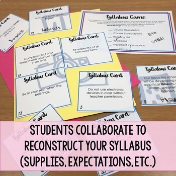 Syllabus Reconstruction Mini Escape Game (Editable for Any Subject Area)