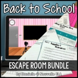 Back to School Escape Room (paper + digital)
