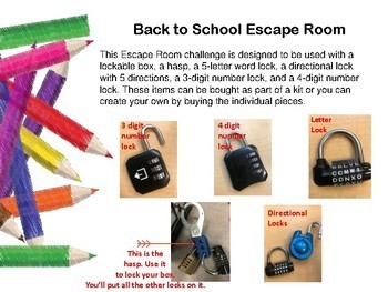 Back to School Escape Room (with Growth Mindset Focus!)