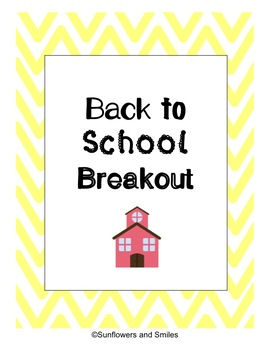 Back to School Escape the Classroom Breakout Rules and Procedures- DIGITAL LOCKS
