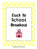 Back to School Escape the Classroom Breakout Rules and Pro