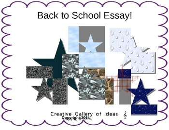 Back to School Essay