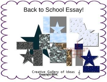 Back to School Essay
