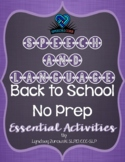 Back to School Essential (No Prep) Activities