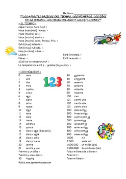 Back to School Essential Spanish Vocabulary Packet