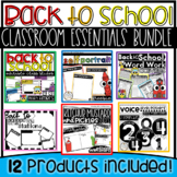 Back to School Essentials for Management, Decor, and First Week Activities