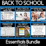 Back to School Essentials BUNDLE | SEL | Farmhouse Theme