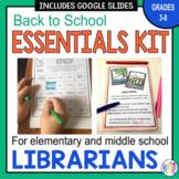 Librarian Back to School Essentials Kit: Grades 3-8