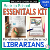Librarian Back to School Essentials Kit: Grades 3-8