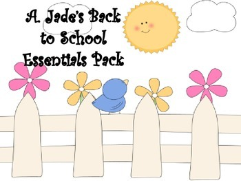 Back to School Packet-Behavior, Citizenship, Getting to Know You and More!!
