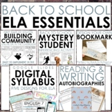 Back to School Essentials for Middle or High School ELA